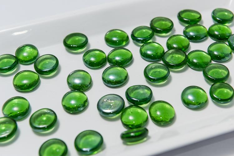 Szklane Kamyczki Glass Nuggets Zielone