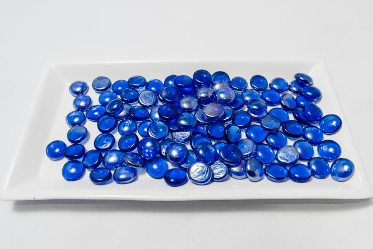 Szklane Kamyczki Glass Nuggets Ciemny Niebieski